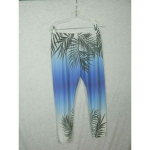 Wildfox 100% Cotton Sweatpant Joggers Blue White M
